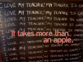 It takes more than an apple