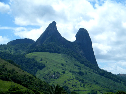 The Monk and Nun rock in Espirito Santo, Brazil