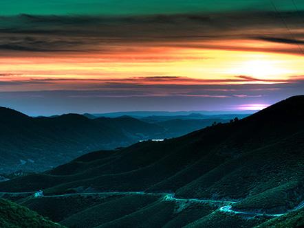 Sunset near Yosemite National Park