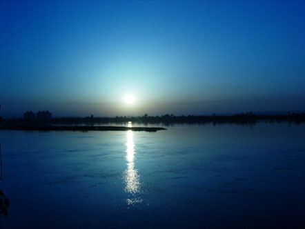 Sunset on the Nile River