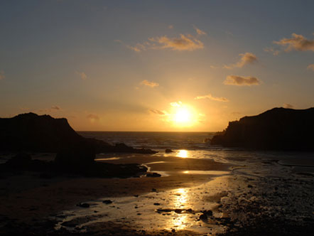 Sunset near the ocean