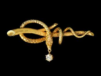 Madeleine Albright's serpent pin