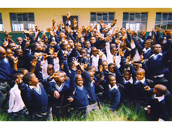 Your donations bought uniforms for children in South Africa.