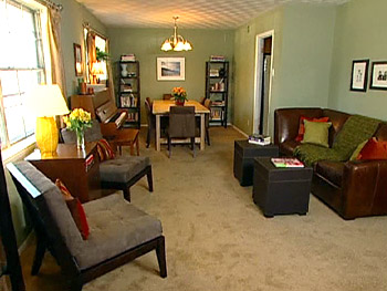 The Gavitts' organized family room