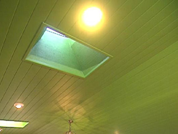 The new ceiling