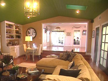 Margie and John's family room, after