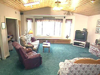 Margie and John's country living room, before