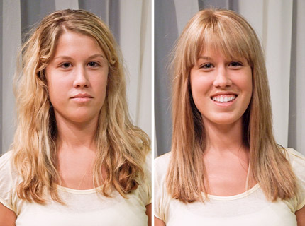 Long Hair Styles With Bangs. Lauren has a rectangular face shape and by