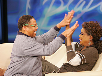 Reggie Wells and Oprah