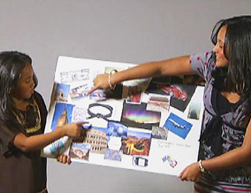 Dominique and Brittany have vision boards.