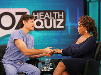 Dr. Oz and Oprah celebrate another great taping.