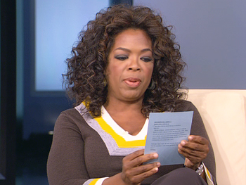 Oprah reads her e-mail