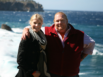 Gwyneth Paltrow and Mario Batali