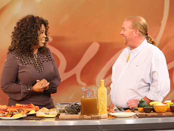 Chef Mario Batali and Oprah