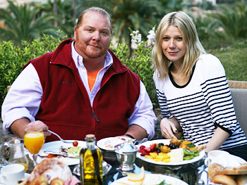 Mario Batali and Gwyneth Paltrow