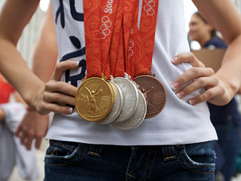 Medals from the Beijing Olympics