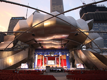 The Pritzker Pavilion in Chicago's Millennium Park
