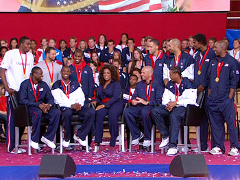 The U.S. Olympic men's basketball team
