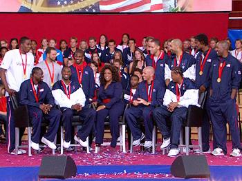 The U.S. Olympic men's basketball team