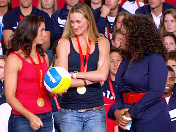 Oprah talks to Misty May-Treanor and Kerri Walsh.