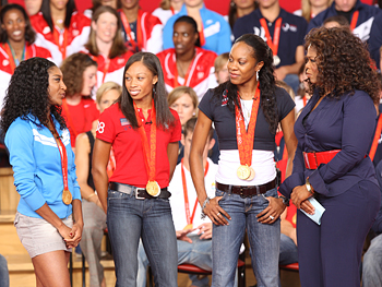 Oprah talks to Sanya Richards.