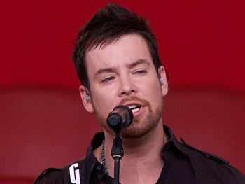 David Cook performs.