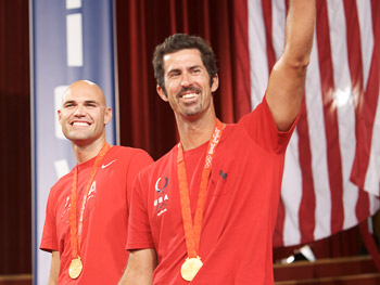 The U.S. men's beach volleyball team