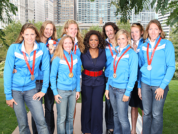 The U.S. women's rowing team