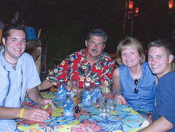 The Whitaker family (left to right) Bart, Kent, Trisha, Kevin