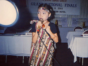 Charice Pempengco performs in a singing contest.