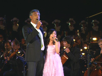 Charice Pempengco with Andrea Bocelli