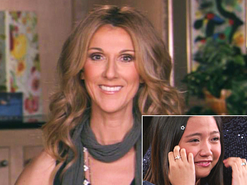 Celine Dion surprises Charice Pempengco
