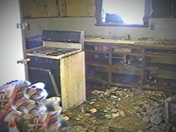 Fannie's home after being destroyed by Hurricane Katrina