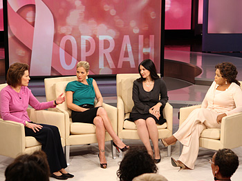 Nancy, Christina, Dr. McAndrew and Oprah