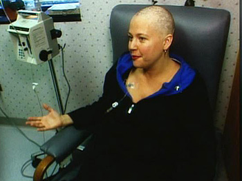 Laurie gets chemotherapy.