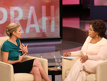 Christina Applegate and Oprah