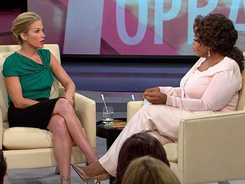 Christina Applegate and Oprah