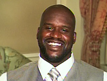 NBA star Shaquille O'Neal is Brenden's new friend.