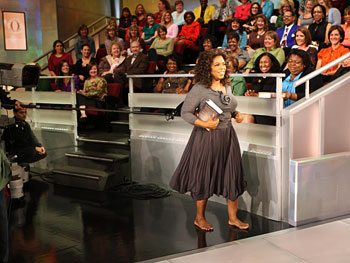 Oprah with the audience