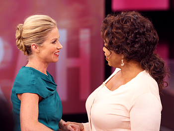 Oprah and Christina Applegate