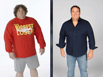 Matt Hoover, before and after losing weight
