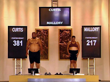 The Biggest Loser weigh-in