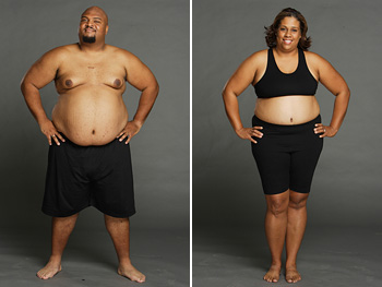 Curtis and Mallory Bray, before losing weight