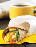 Spinach, Egg and Cheese Breakfast Wrap