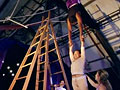 Marcus and Tamica's trapeze exercise