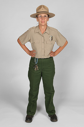 Barbara is a park ranger who lives in khakis.