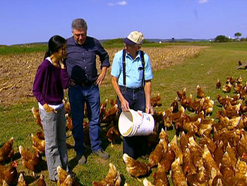 Lisa Ling visits a cage-free egg farm.