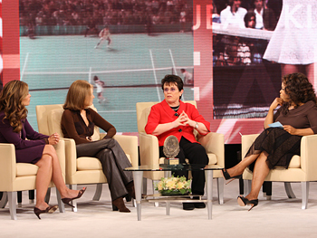 Maria Shriver, Gloria Steinem, Billie Jean King and Oprah