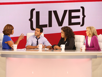 Oprah, Gayle King, Ali Wentworth and Mark Consuelos