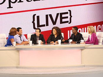 Gayle King, Mark Consuelos, Ben Stiller, Oprah, Chris Rock and Ali Wentworth